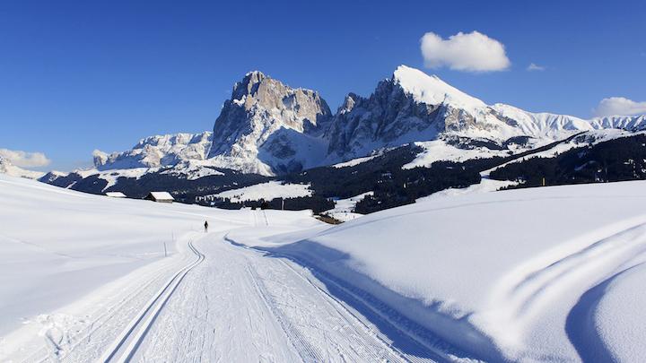 Ski trail in Italian Dolomites