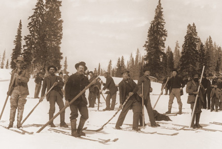 Colorado 19th century skiers