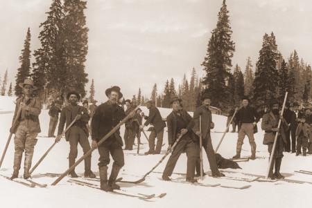 Colorado 19th century skiers