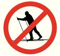 No skiing