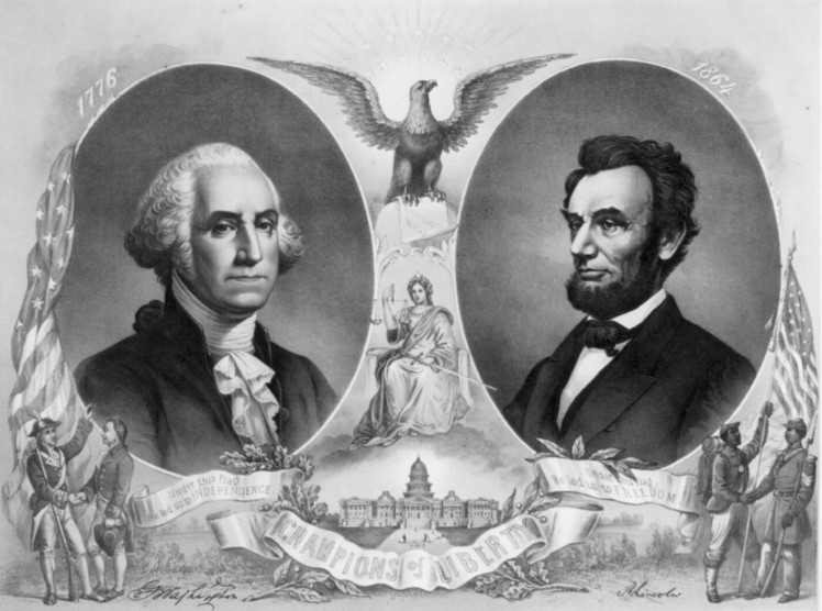 Presidents Washington and Lincoln
