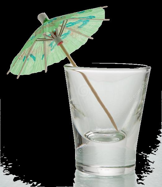 empty shot glass w umbrella