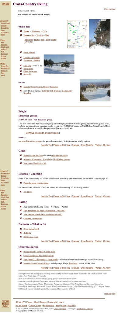 Screenshot of Ken Roberts' personal website