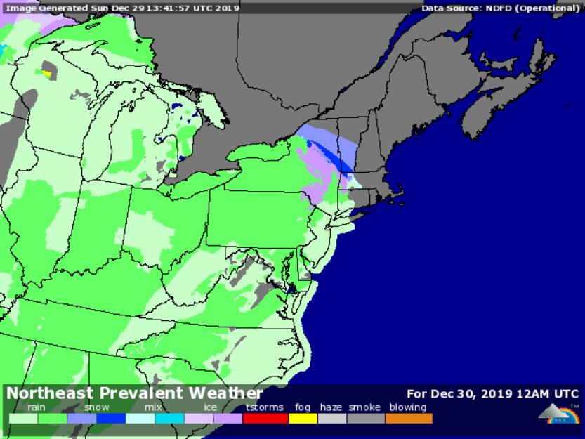 Forecast for 7pm Dec. 29