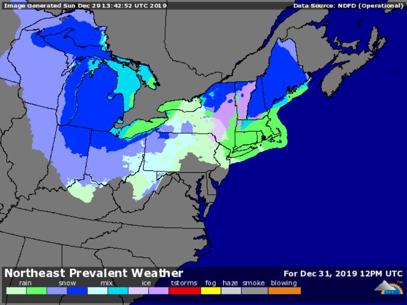 Forecast for 7am Dec. 31