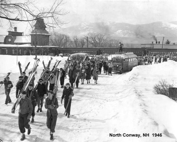 The good 'ol ski train days