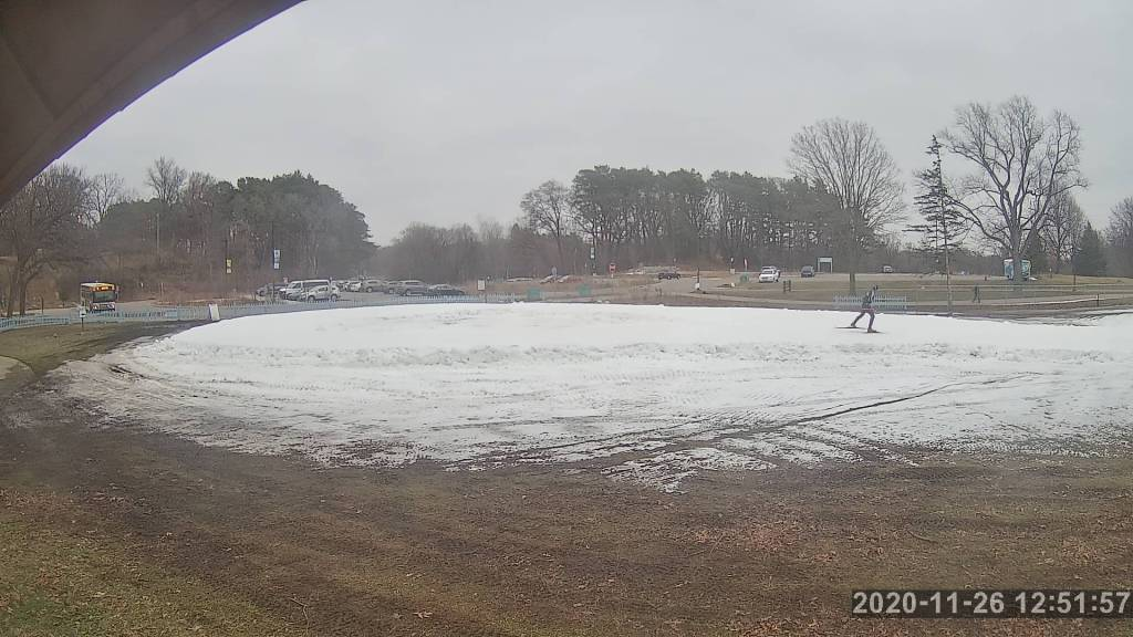 Scant snow at Minneapolis' Theodore Wirth Park webcam, November 26 2020